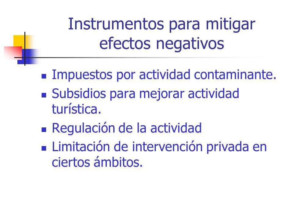 Instrumentos para mitigar efectos negativos