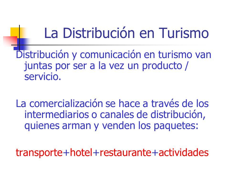 La Distribución en Turismo
