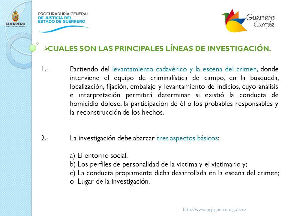 CUALES SON LAS PRINCIPALES LÍNEAS DE INVESTIGACIÓN.