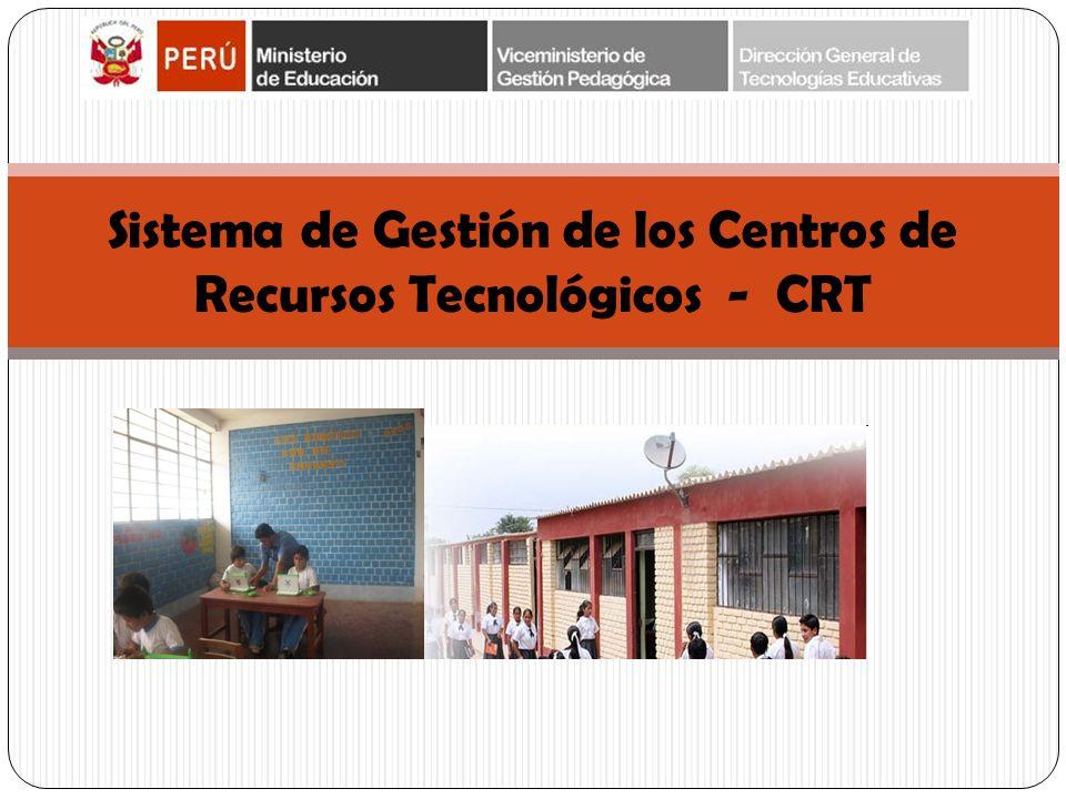 Sistema de Gestión de los Centros de Recursos Tecnológicos - CRT