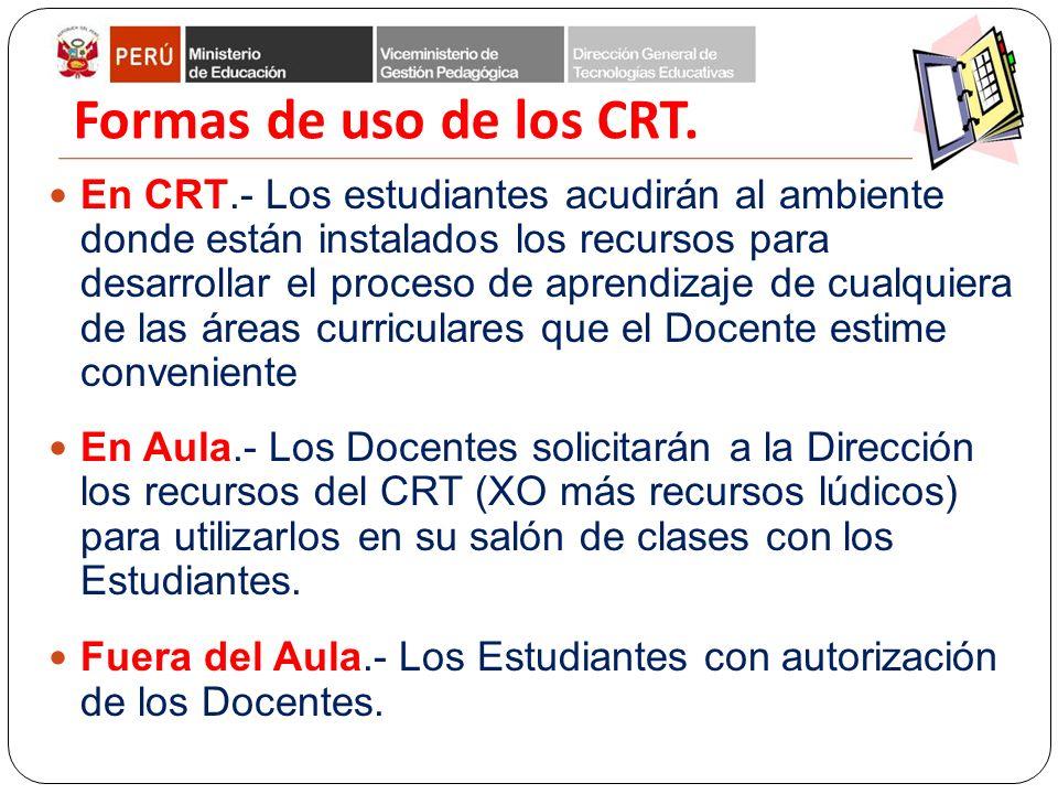 Formas de uso de los CRT.