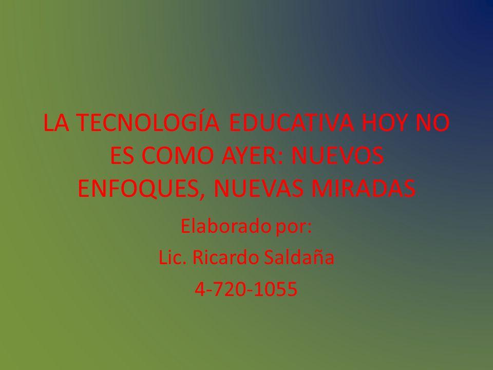 Elaborado por: Lic. Ricardo Saldaña 4-720-1055