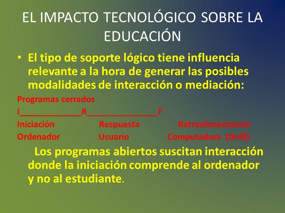 EL IMPACTO TECNOLÓGICO SOBRE LA EDUCACIÓN