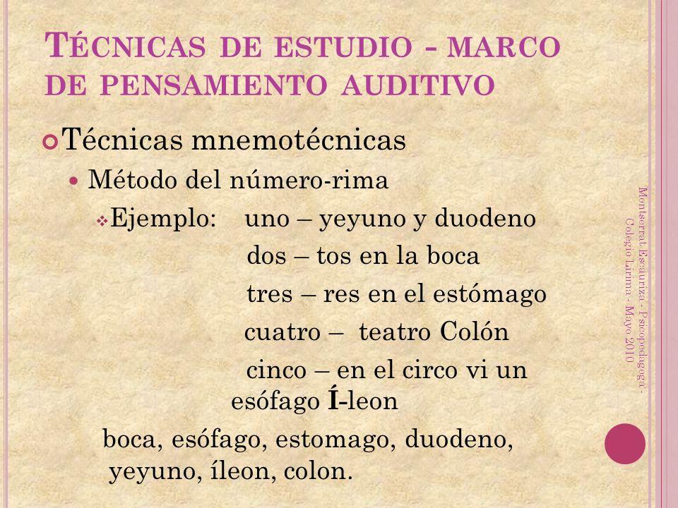 Montserrat Escauriza - Psicopedagoga - Colegio Lirima - Mayo 2010