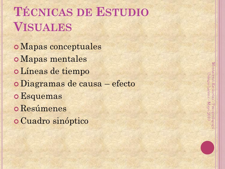 Técnicas de Estudio Visuales
