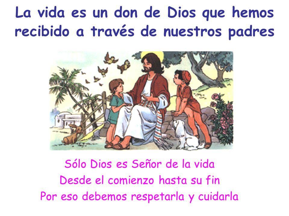 La vida es un don de Dios que hemos