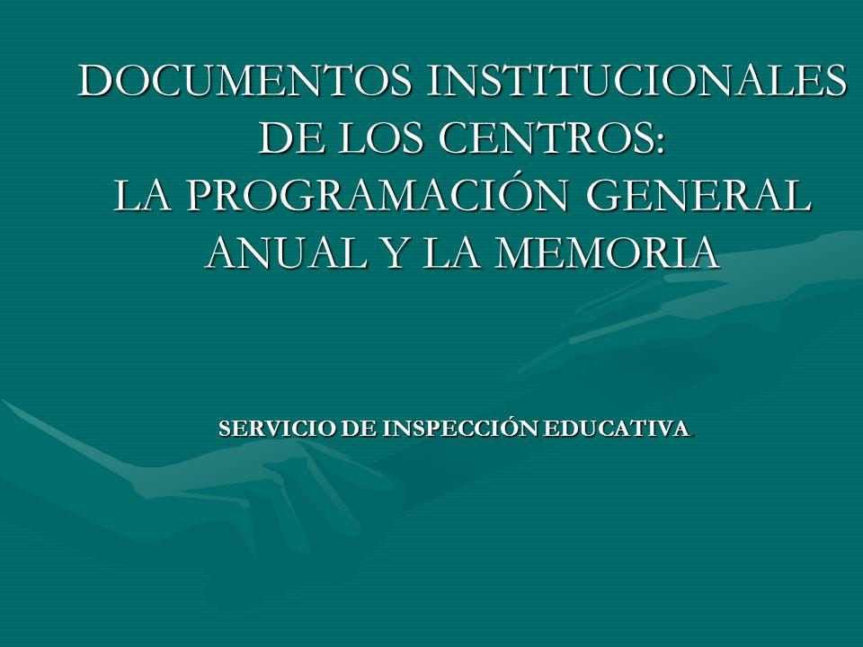 SERVICIO DE INSPECCIÓN EDUCATIVA.