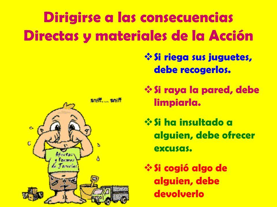 Dirigirse a las consecuencias Directas y materiales de la Acción