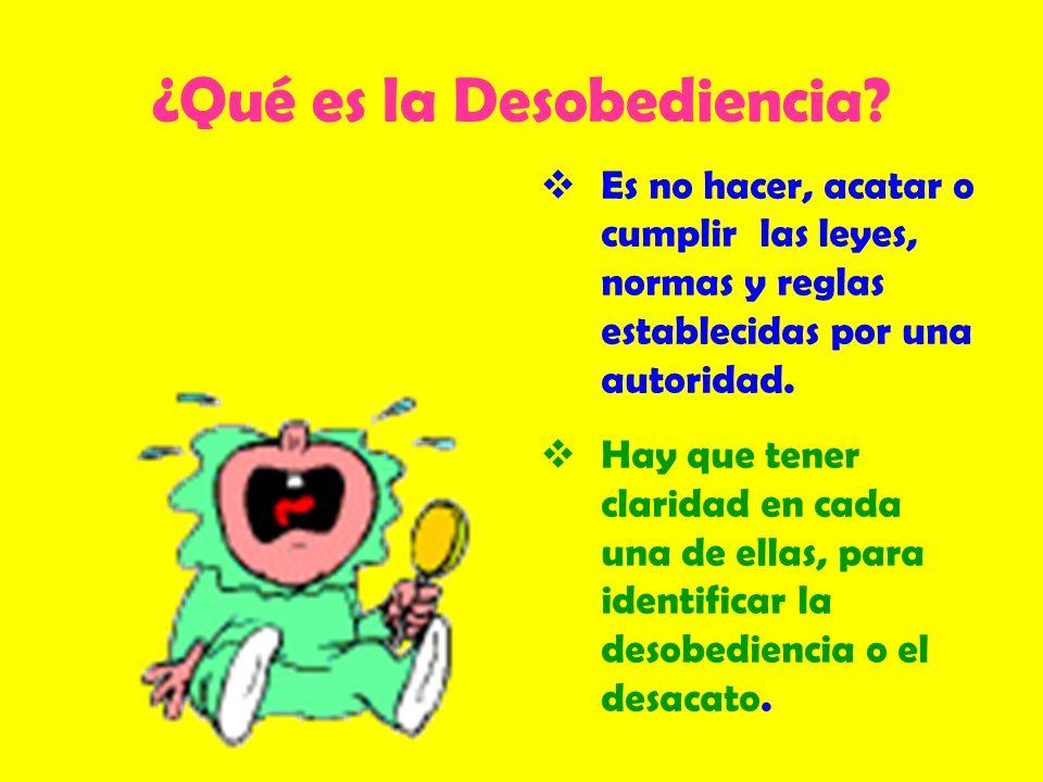 ¿Qué es la Desobediencia