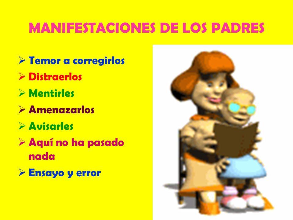 MANIFESTACIONES DE LOS PADRES