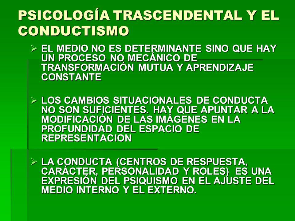 PSICOLOGÍA TRASCENDENTAL Y EL CONDUCTISMO