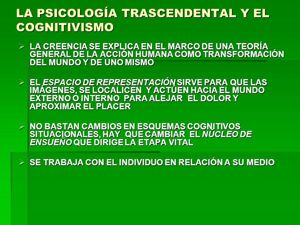 LA PSICOLOGÍA TRASCENDENTAL Y EL COGNITIVISMO