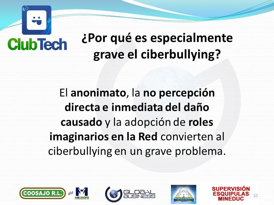 ¿Por qué es especialmente grave el ciberbullying