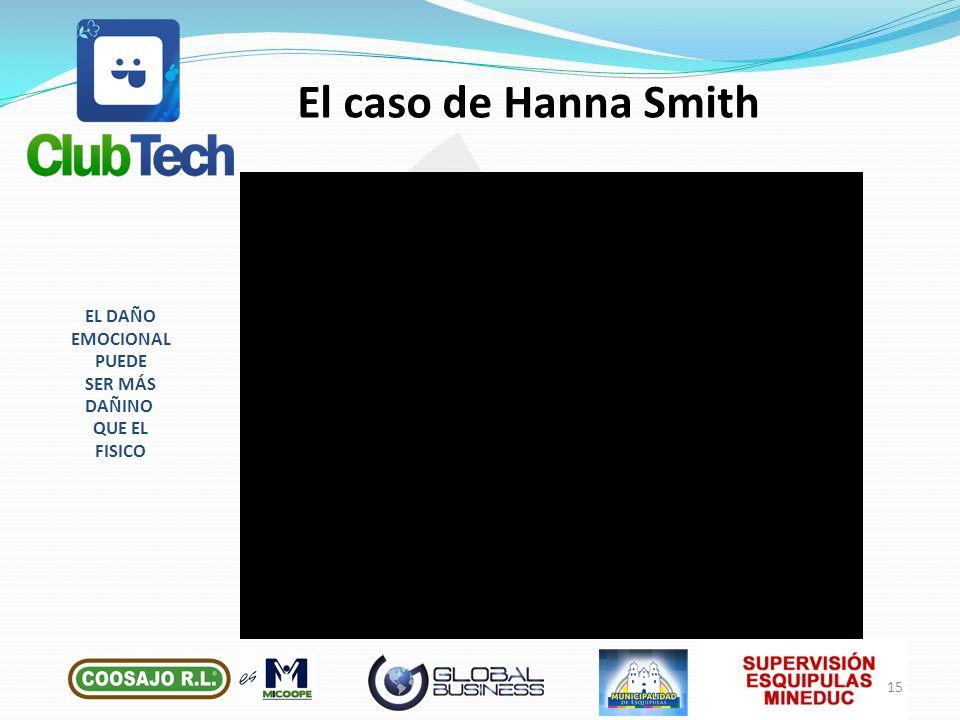 El caso de Hanna Smith EL DAÑO EMOCIONAL PUEDE SER MÁS DAÑINO QUE EL