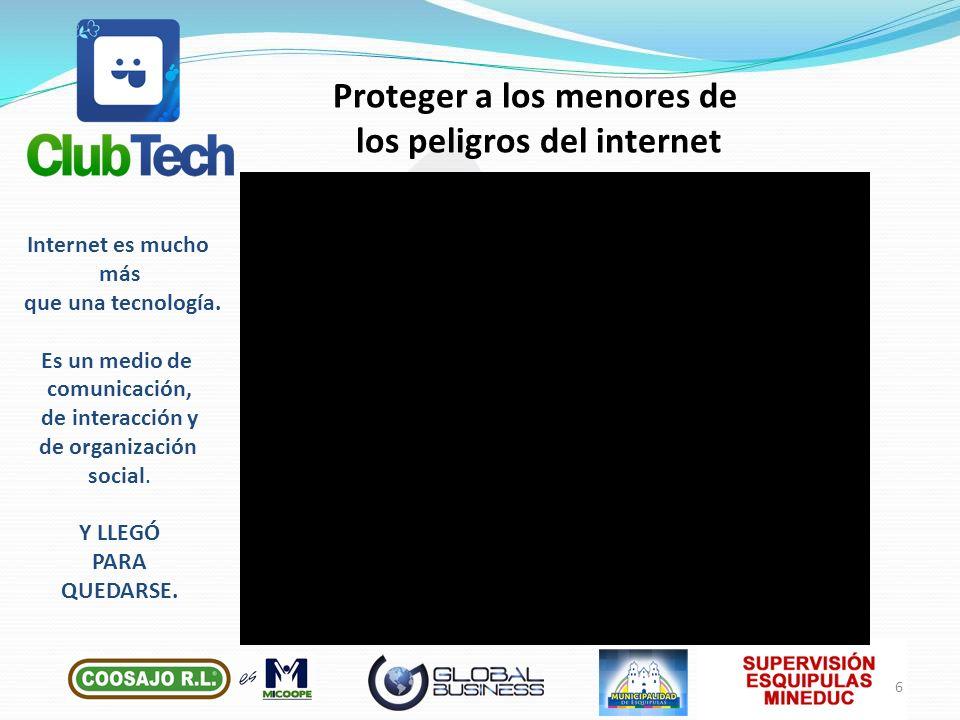 Proteger a los menores de los peligros del internet