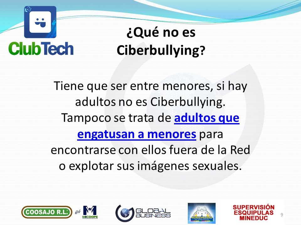 ¿Qué no es Ciberbullying