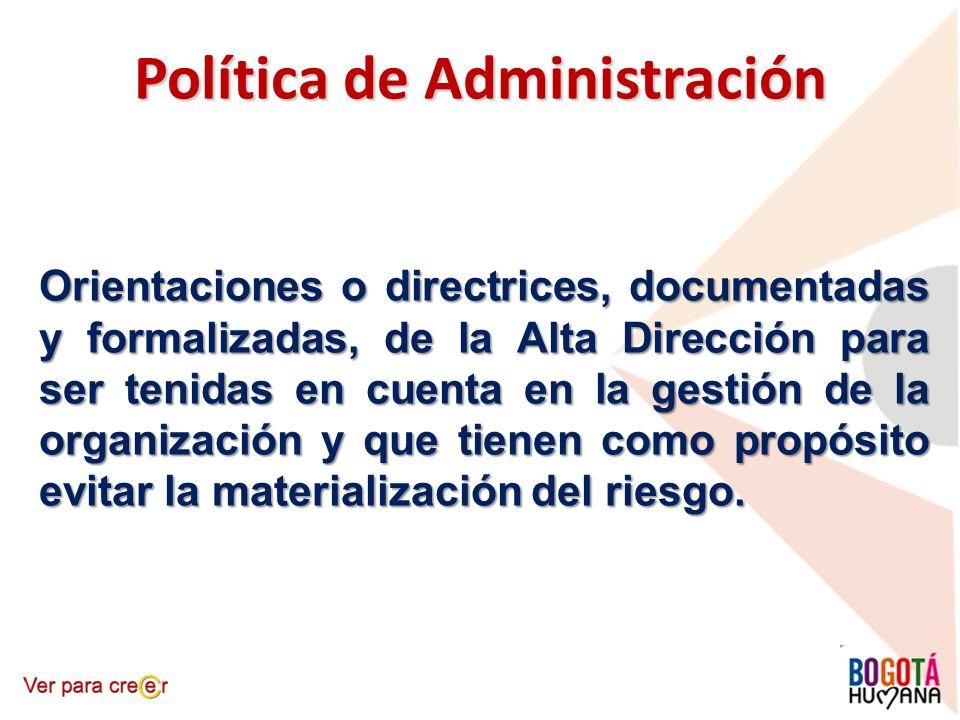 Política de Administración