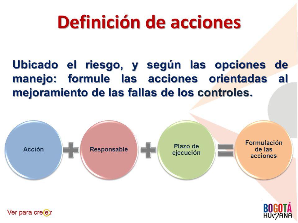 Definición de acciones