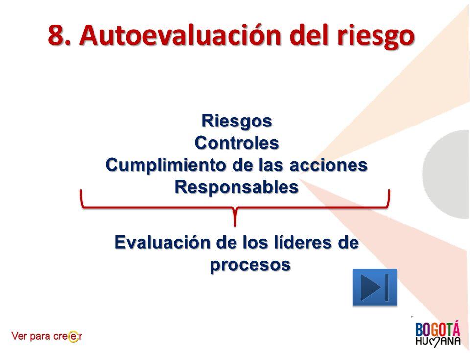 8. Autoevaluación del riesgo