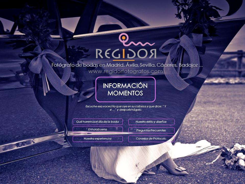 Fotógrafo de bodas en Madrid, Ávila, Sevilla, Cáceres, Badajoz …