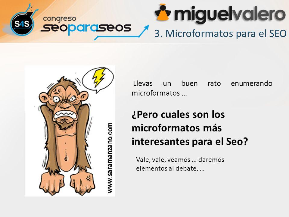3. Microformatos para el SEO