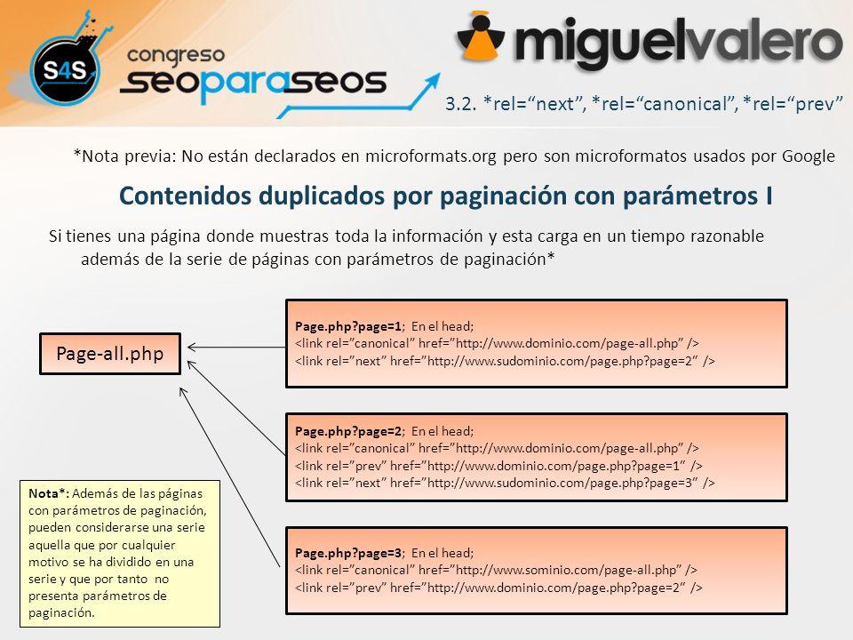 Contenidos duplicados por paginación con parámetros I