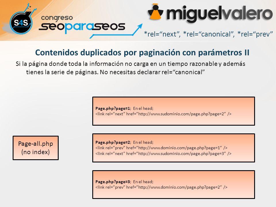 Contenidos duplicados por paginación con parámetros II
