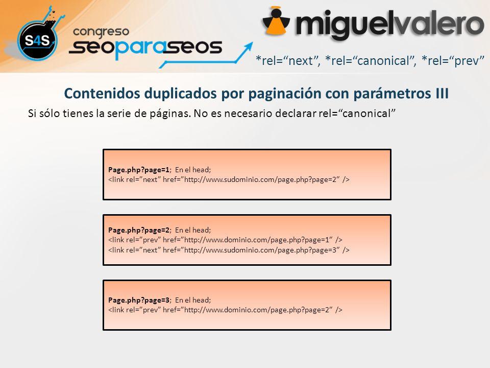 Contenidos duplicados por paginación con parámetros III