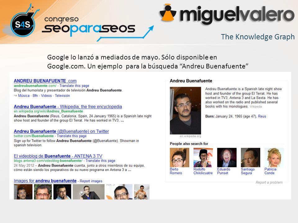The Knowledge Graph Google lo lanzó a mediados de mayo.