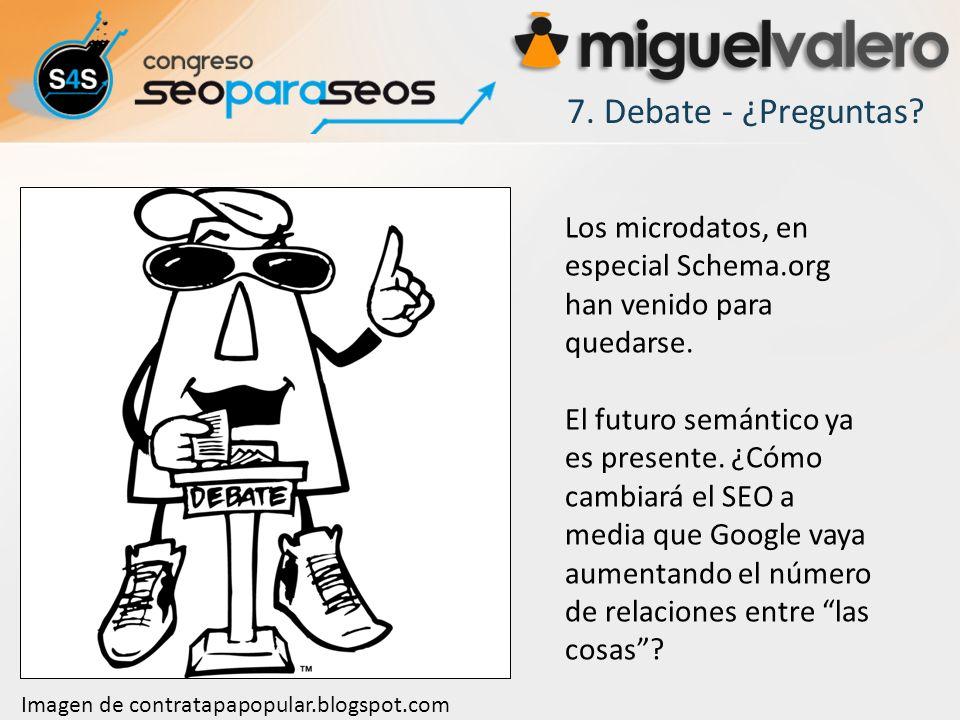 7. Debate - ¿Preguntas Los microdatos, en especial Schema.org han venido para quedarse.