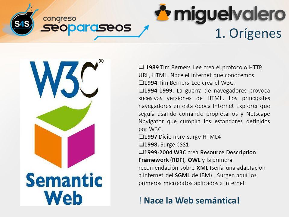 1. Orígenes ! Nace la Web semántica!