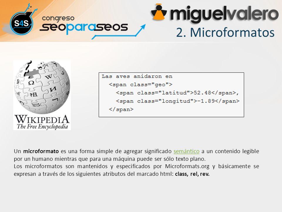 2. Microformatos