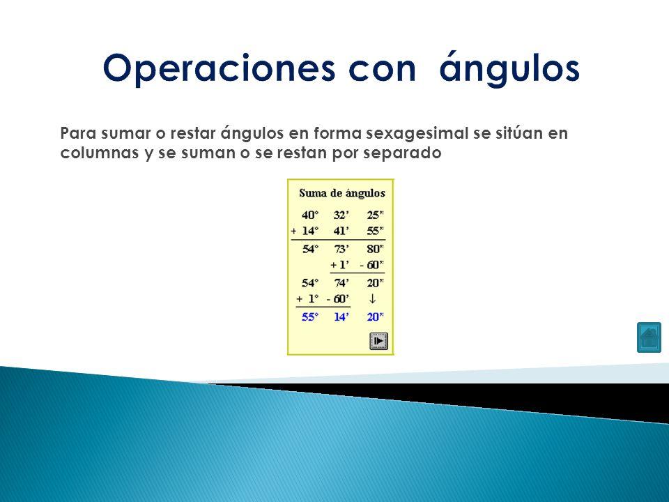Operaciones con ángulos
