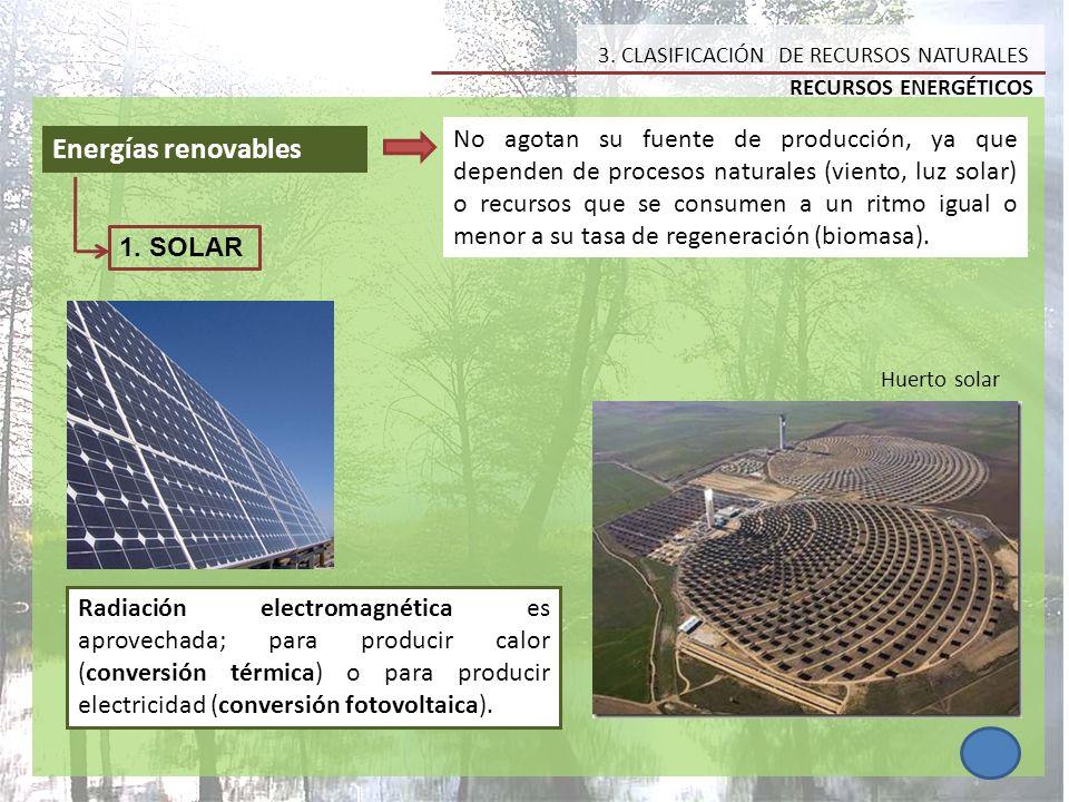 3. CLASIFICACIÓN DE RECURSOS NATURALES
