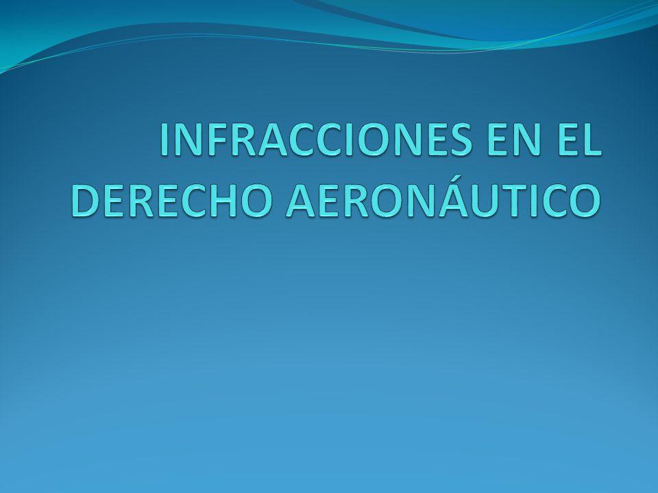 INFRACCIONES EN EL DERECHO AERONÁUTICO