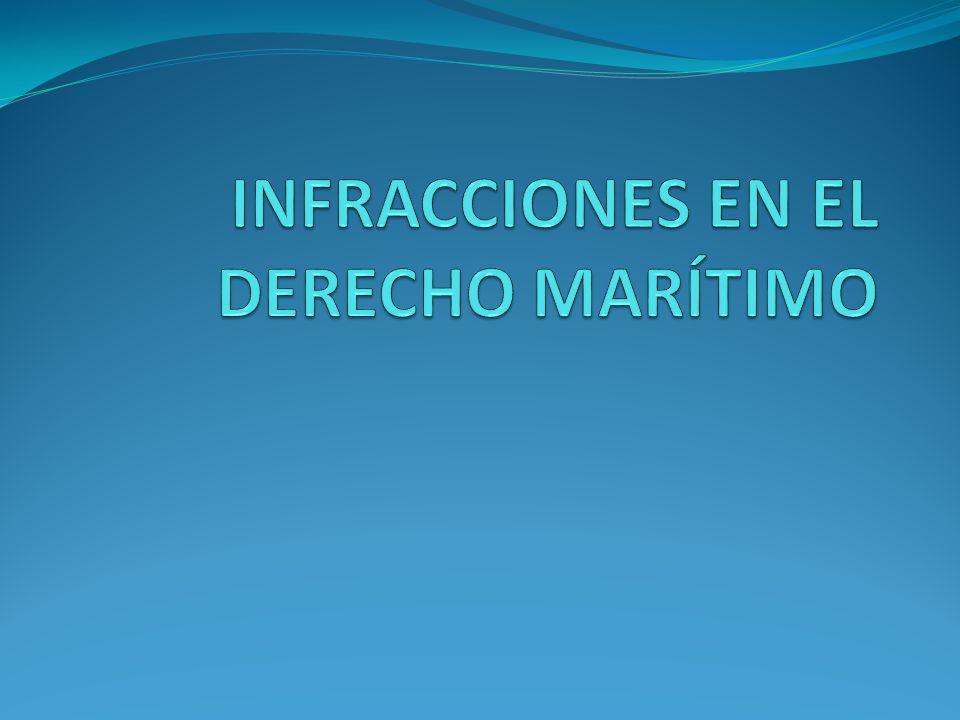 INFRACCIONES EN EL DERECHO MARÍTIMO