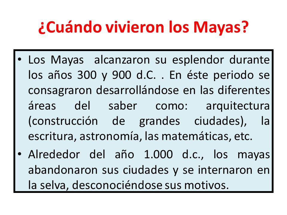 ¿Cuándo vivieron los Mayas