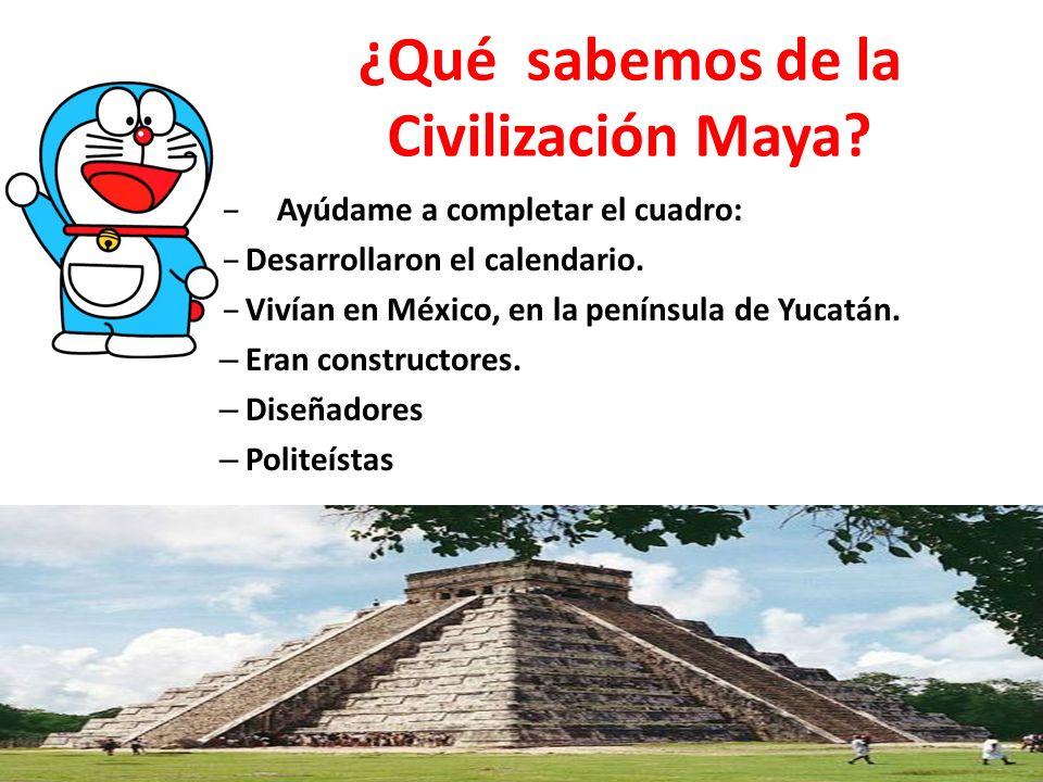 ¿Qué sabemos de la Civilización Maya