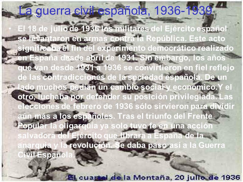 La guerra civil española, 1936-1939