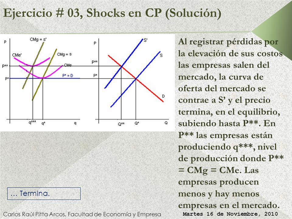 Ejercicio # 03, Shocks en CP (Solución)