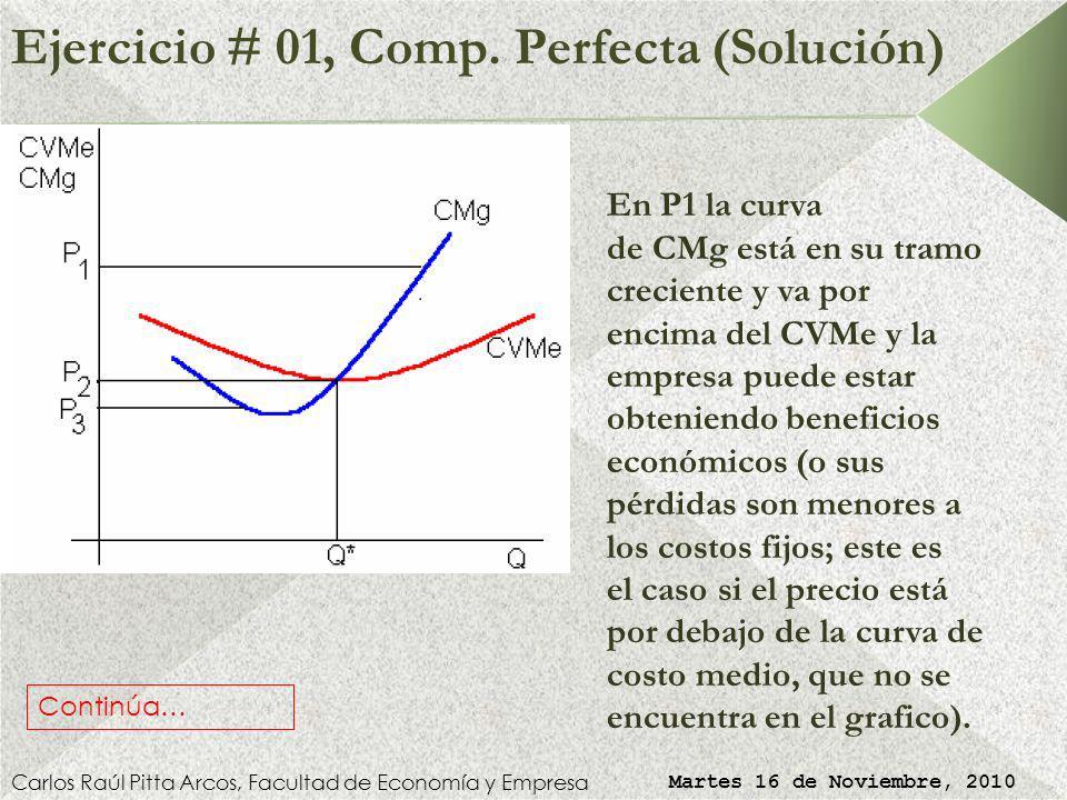 Ejercicio # 01, Comp. Perfecta (Solución)