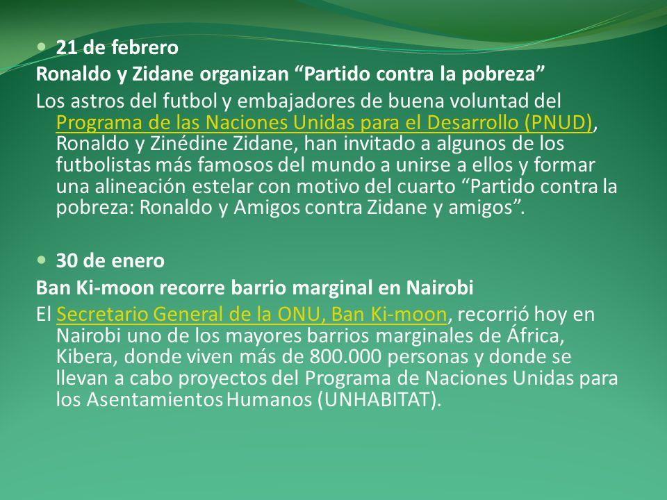21 de febrero Ronaldo y Zidane organizan Partido contra la pobreza