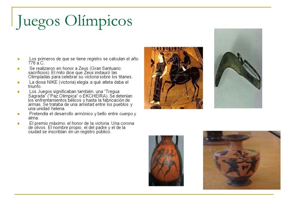 Juegos Olímpicos Los primeros de que se tiene registro se calculan el año 776 a.C.
