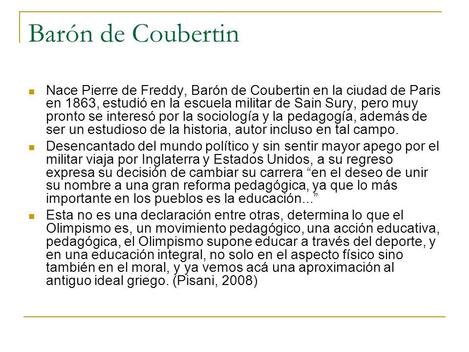 Barón de Coubertin