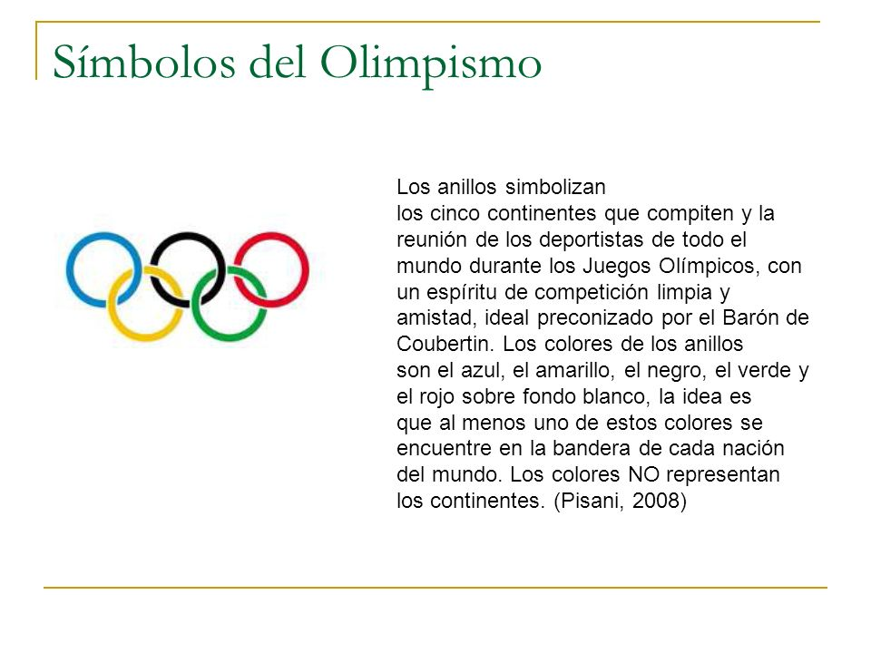 Símbolos del Olimpismo