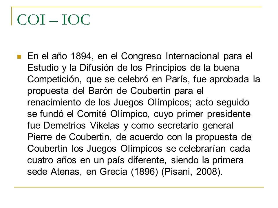 COI – IOC