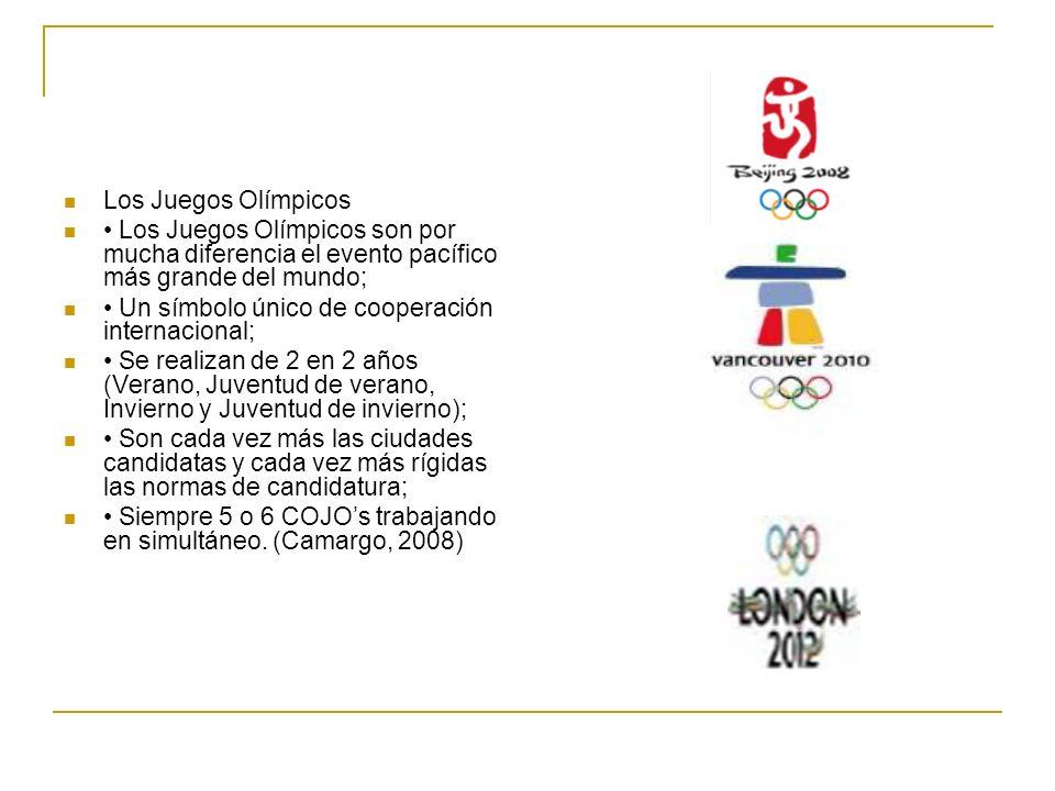 Los Juegos Olímpicos • Los Juegos Olímpicos son por mucha diferencia el evento pacífico más grande del mundo;