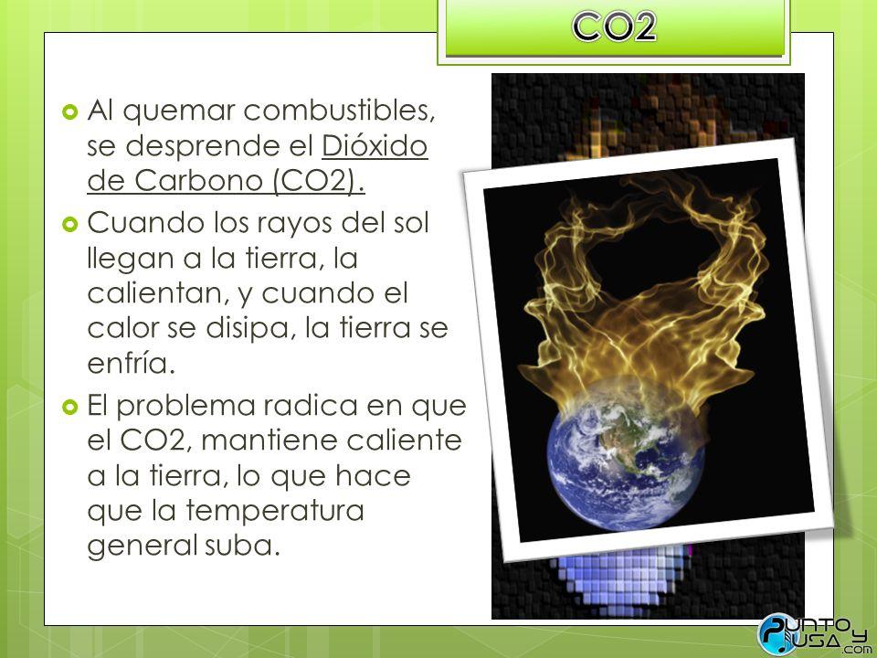 CO2 Al quemar combustibles, se desprende el Dióxido de Carbono (CO2).