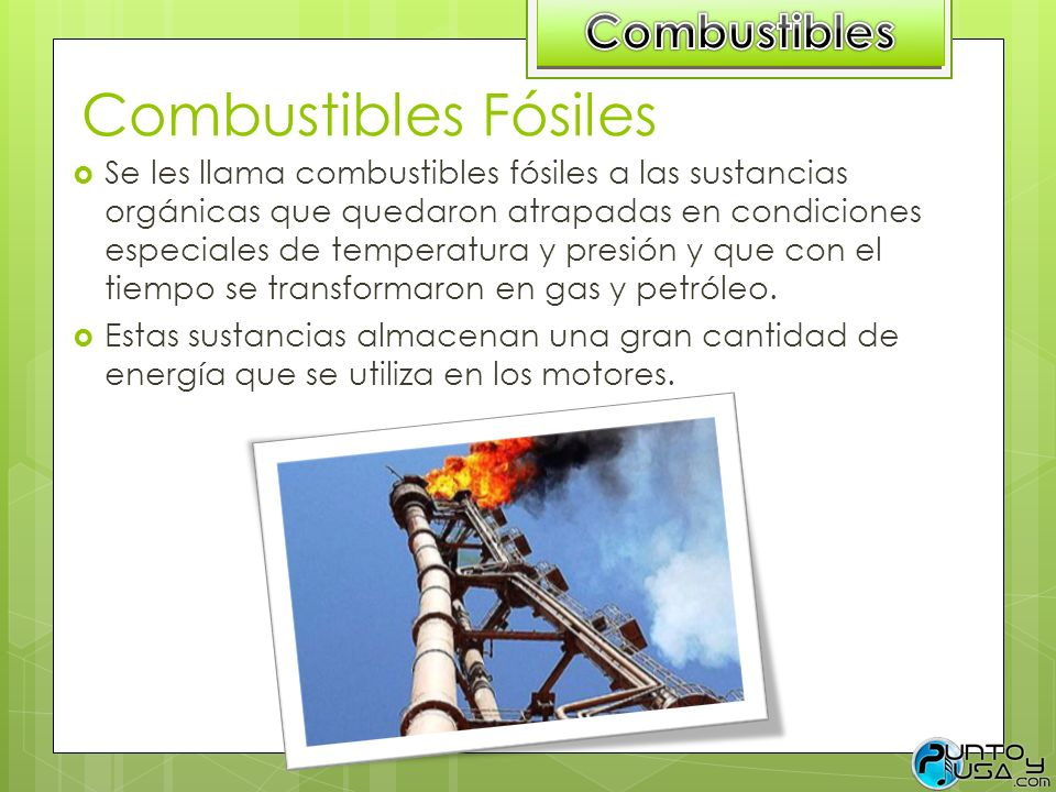 Combustibles Fósiles Combustibles