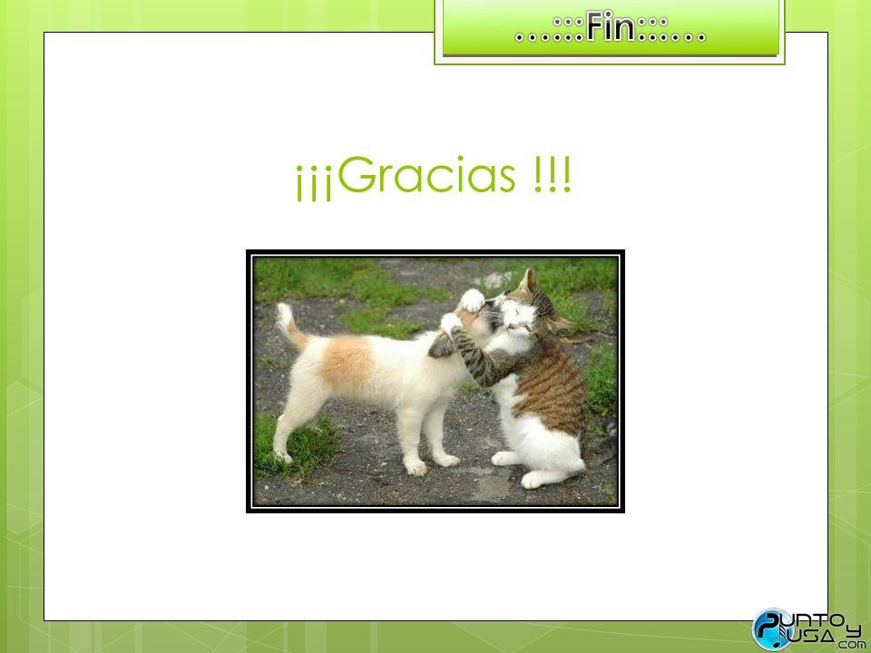 …:::Fin:::… ¡¡¡Gracias !!!